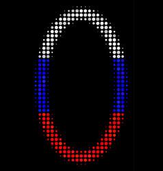 Halftone russian contour ellipse icon vector