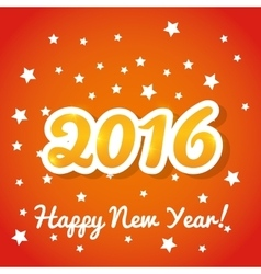 Happy new year colorful card vector image