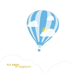 Hot air balloon and fair weather vector