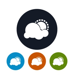 Icon partly cloudy vector image