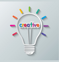 Idea creative light bulb vector