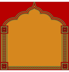 Indian pattern frame vector image