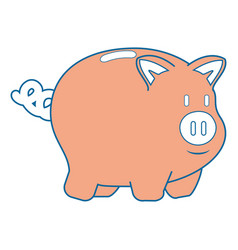 Isolated piggy bank vector