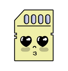 Kawaii cute tender micro sd vector