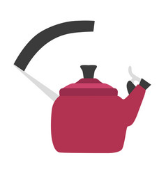 kettle tea design top stove steam kitchen vector image
