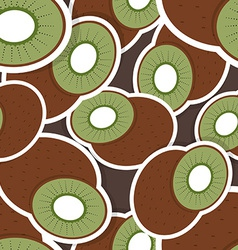 Kiwi pattern Seamless texture with ripe Kiwi vector image