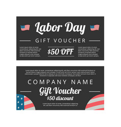 labor day gift voucher vector image