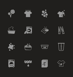 laundry - flat icons vector image