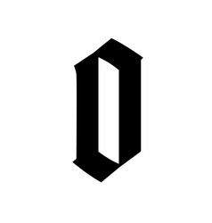 Letter o in gothic style alphabet symbol vector