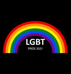 lgbt pride month 2021 concept black background vector image