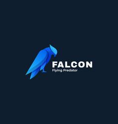 Logo bird falcon gradient colorful style vector