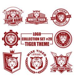 Logo collection set with tiger theme vector