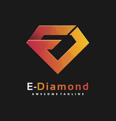 logo diamond gradient colorful style vector image
