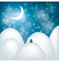 Magic Christmas landscape vector