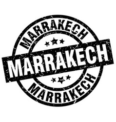 Marrakech black round grunge stamp vector