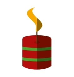 Merry christmas candle isolated icon vector