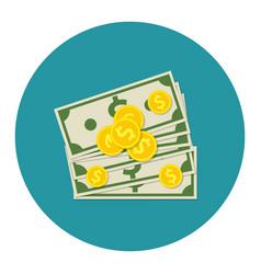 Money dollar cash colorful icon vector