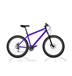 new blue bicycle vector image