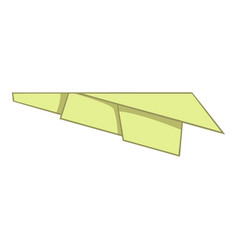 Origami plane icon cartoon style vector