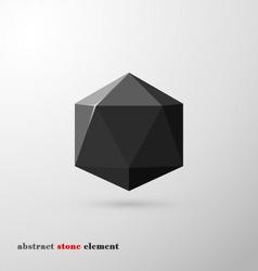 Origami texture black vector