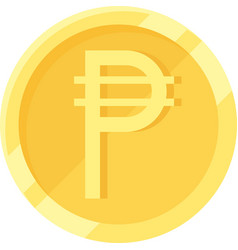 philippine peso coin official currency the vector image