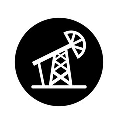 Refinery plant tower icon vector