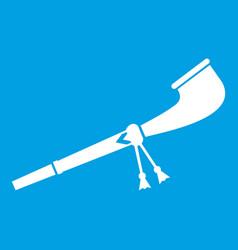 Retro smoking pipe icon white vector