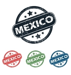 Round mexico city stamp set vector