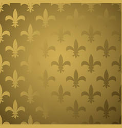 royal flower fleur gold gradient seamless pattern vector image