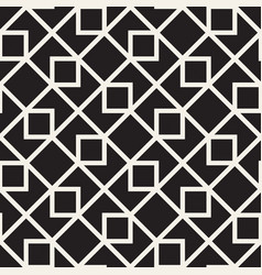 Seamless black and white lines pattern vector