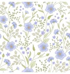 seamless cute little flower pattern vector image