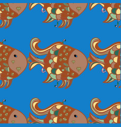 Seamless cute pattern with a different tropical vector