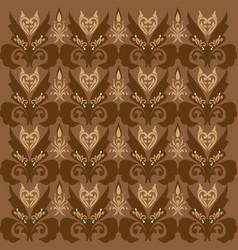 seamless motifs on parang batik design vector image