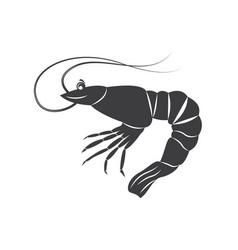 Shrim silhouette isolated vector