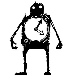 Silhouette time man vector