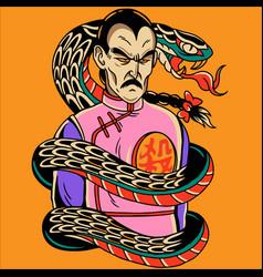 Snake and dragon design vector