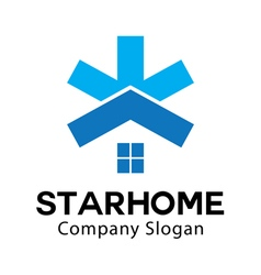 Star home design vector
