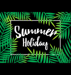 Summer holiday beach palm with dark background vector