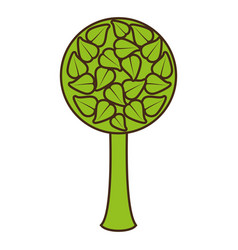 Tree organic food emblem image vector