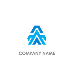 triangle a business company logo vector image