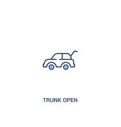Trunk open concept 2 colored icon simple line vector