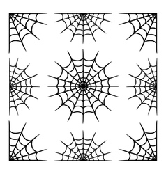 Various cobwebs vector