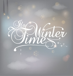 Winter card vector