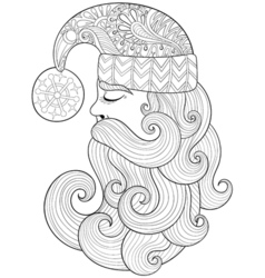 Christmas zentangle Santa Claus for adult vector image vector image