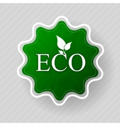 Eco label of organic natural food vector image vector image