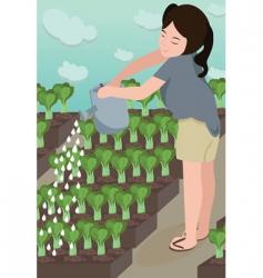 garden grow vector image vector image