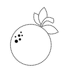 orange fresh fruit icon vector image vector image