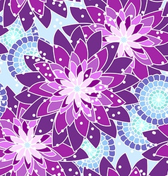 Seamless flower pattern in purple tones vector image vector image