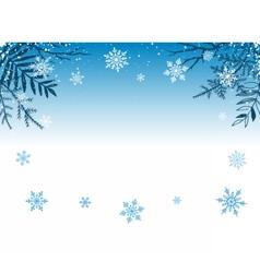 Winter snowy background vector
