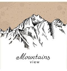 Snow Mountain Peak vector image